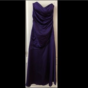 David's bridal Purple Gown